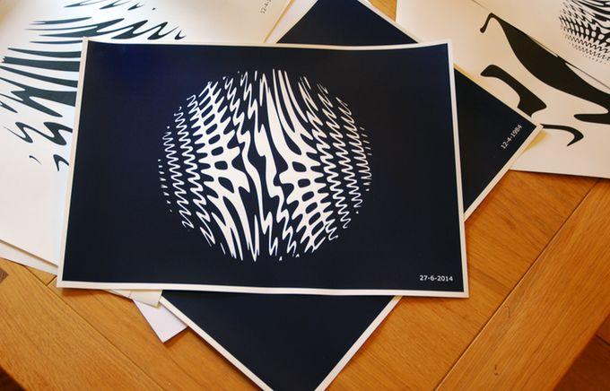 Wave Interference Pattern Art