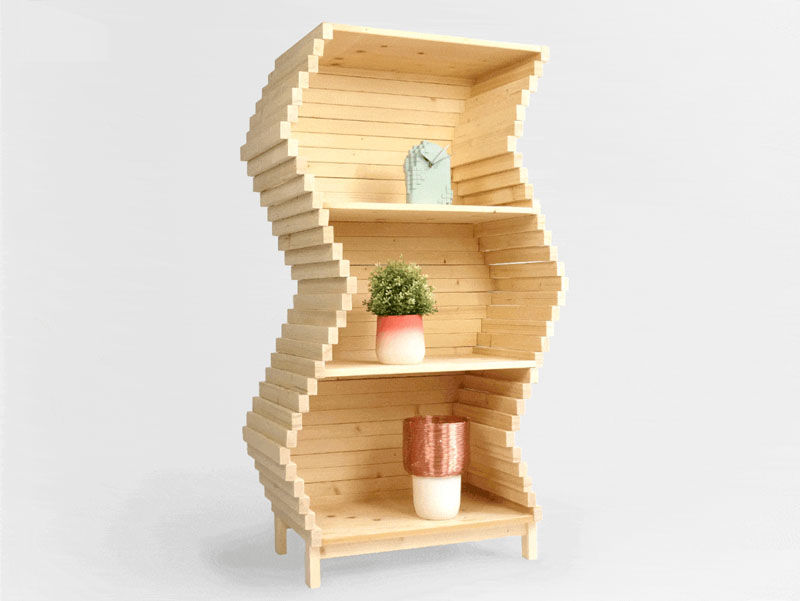 Shifting Shape Shelving