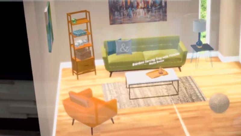 AR Home Showroom Apps : wayfair spaces