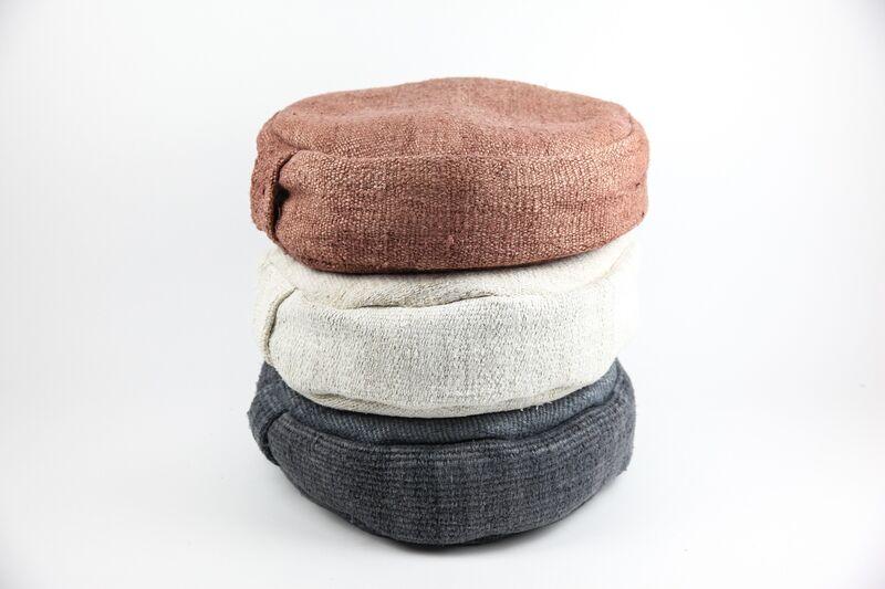 Vintage Hemp Meditation Cushions