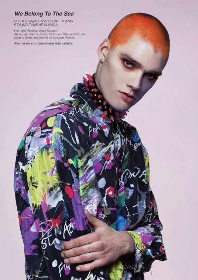 Androgynous Sea-Punk Editorials