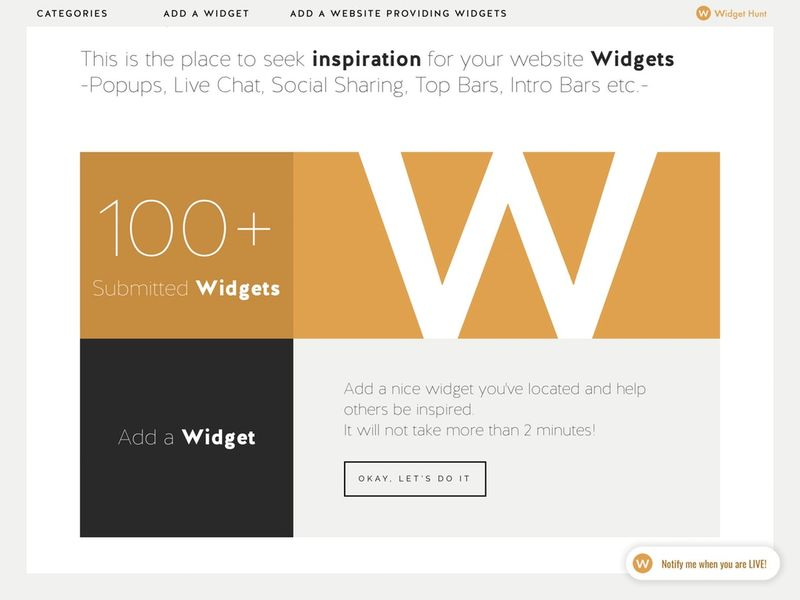 Widget Inspiration Communities