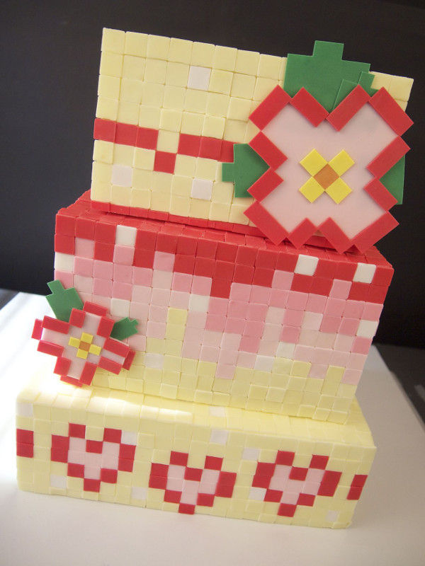 Pixelated Gamer Cakes