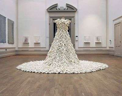 Rubber Wedding Gowns: A Dress Made of 1400 Rubber Gloves