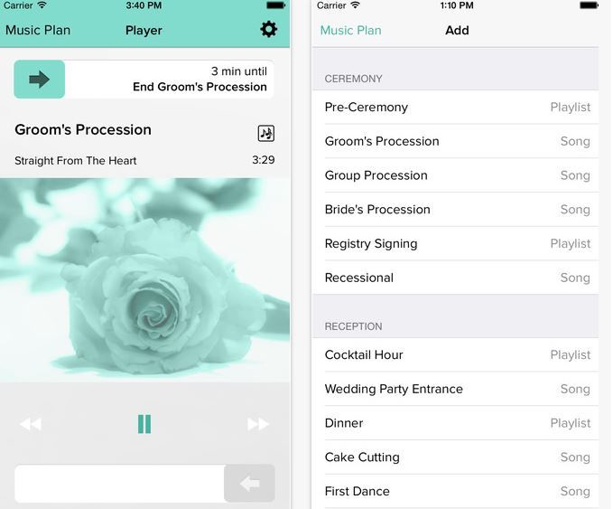 Wedding Playlist Apps