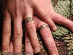 wedding ring tattoos from hitch date digits to inked i. Black Bedroom Furniture Sets. Home Design Ideas