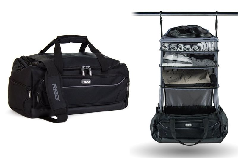 Hangable Duffle Bag Organizers Weekend Bag