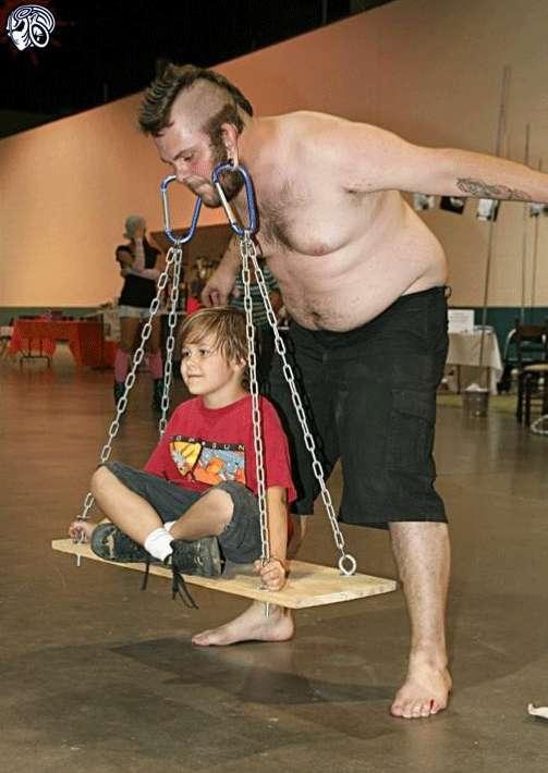 earlobe powerlifters pierced weightlifters use their
