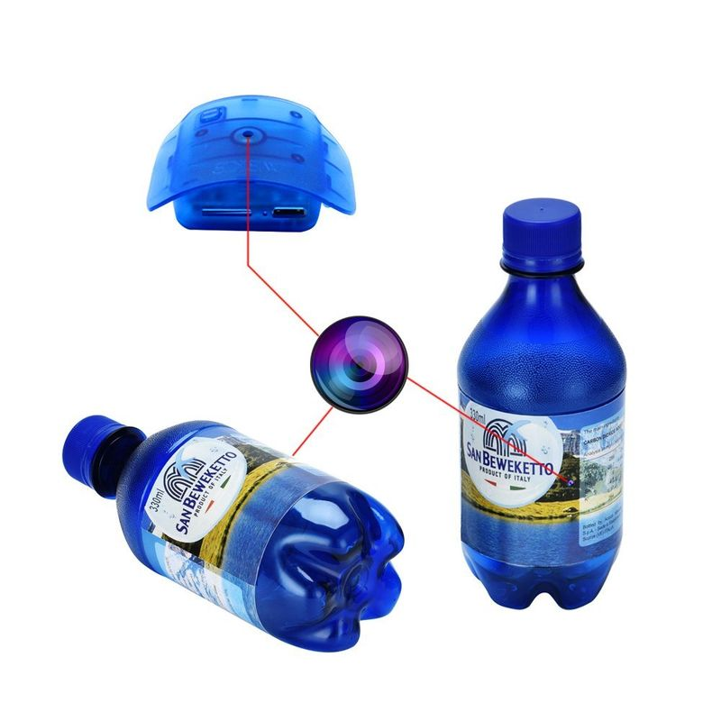 Water Bottle Security Cameras : WEKE Hidden Spy Camera