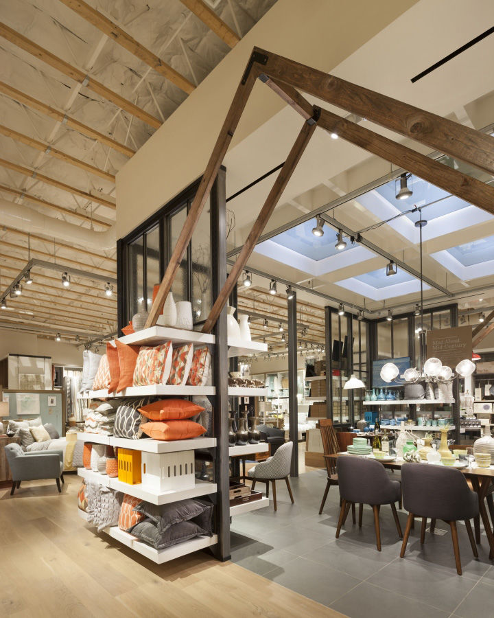 Interior Decor Stores: Loft-Like Retail Spaces : West Elm Store