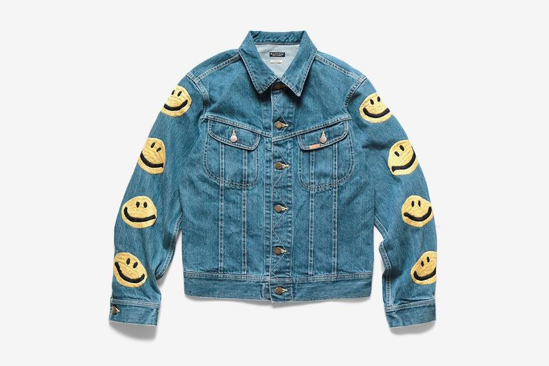 Smiley-Adorned Western Denim Jackets