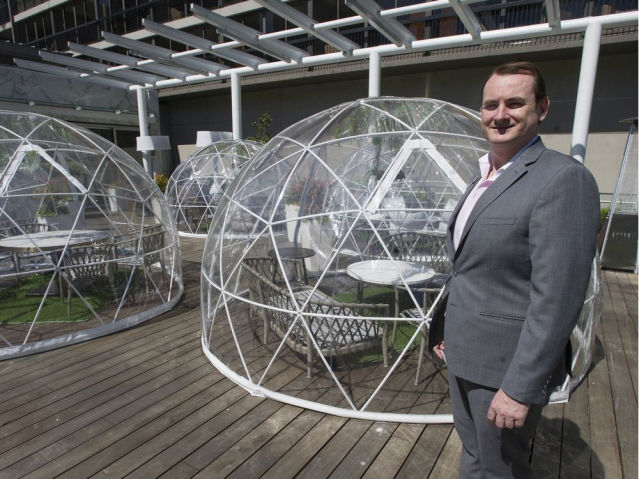 Geodesic Domes Hotel Patios