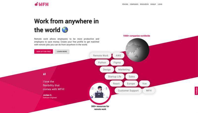 WFH Employment Marketplaces
