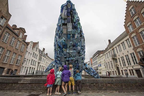 Plastic Five-Ton Whale Sculptures