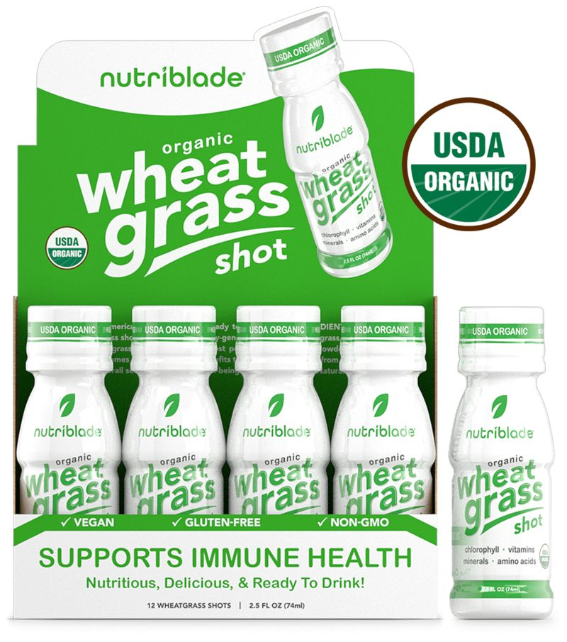 Prepackaged Wheatgrass Shots