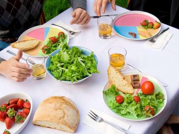 Diet-Aiding Dinner Plates & Diet-Aiding Dinner Plates : Wheel of Nutrition Plate