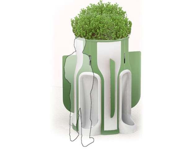 Plant-Feeding Urinals