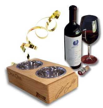 Recycled Wine Crate As Dog Bowl