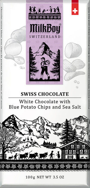Chip-Filled White Chocolates