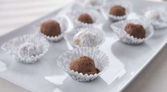 Spiked Cocoa Candy Balls