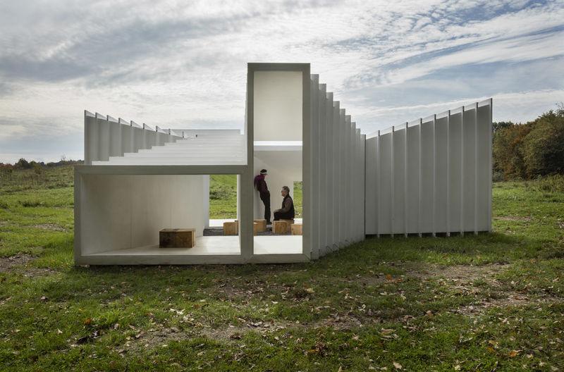 Framing Trapezoidal Pavilions