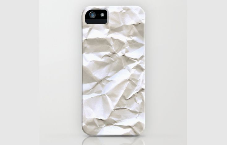 Faux Crumpled Phone Covers
