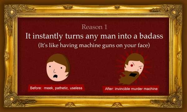 Persuasive Facial Hair Charts