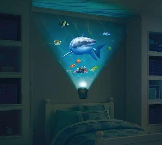 Aquatic Nighttime Projectors. Aquatic Nighttime Projectors   Wild Walls Shark Encounter