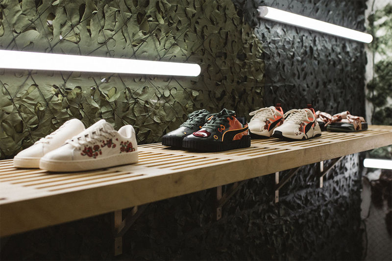 Artist-Designed Floral Sneakers