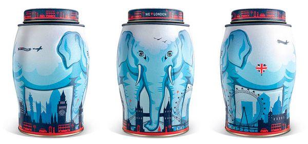 Elegant Elephant Canisters