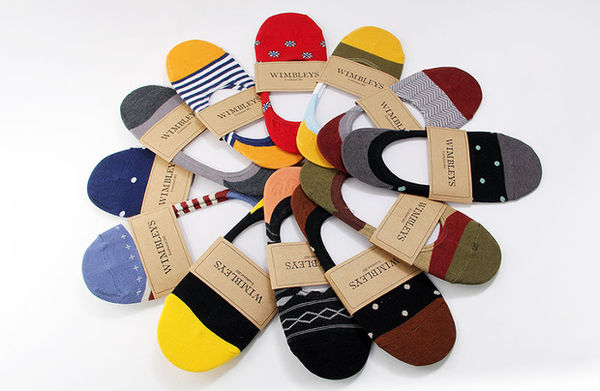 Patterned Men's Liner Socks
