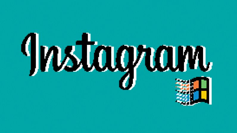 Retro OS App Filters : Windows 95 Instagram