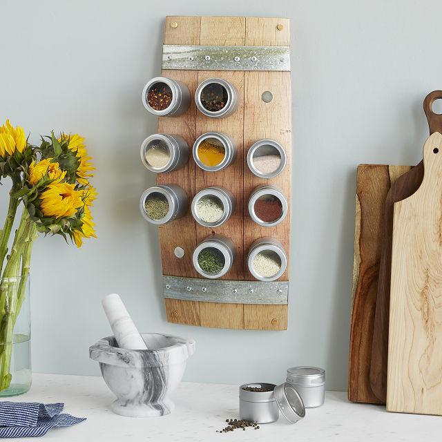 Barrel-Themed Spice Racks