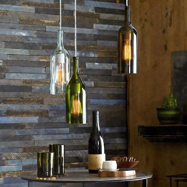 Repurposed Alcohol Bottle Lamps