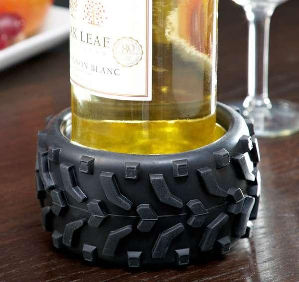 Big Wheel Wine Coasters
