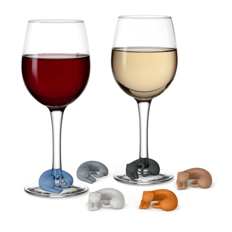 Kitty-Themed Wine Markers