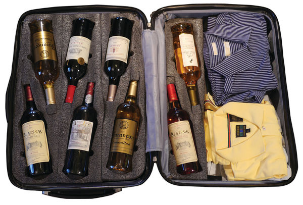 Trackable Wine Suitcases