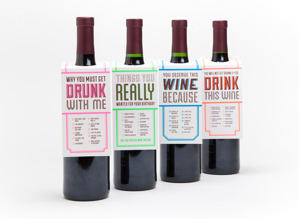 Humorous Wine Tags