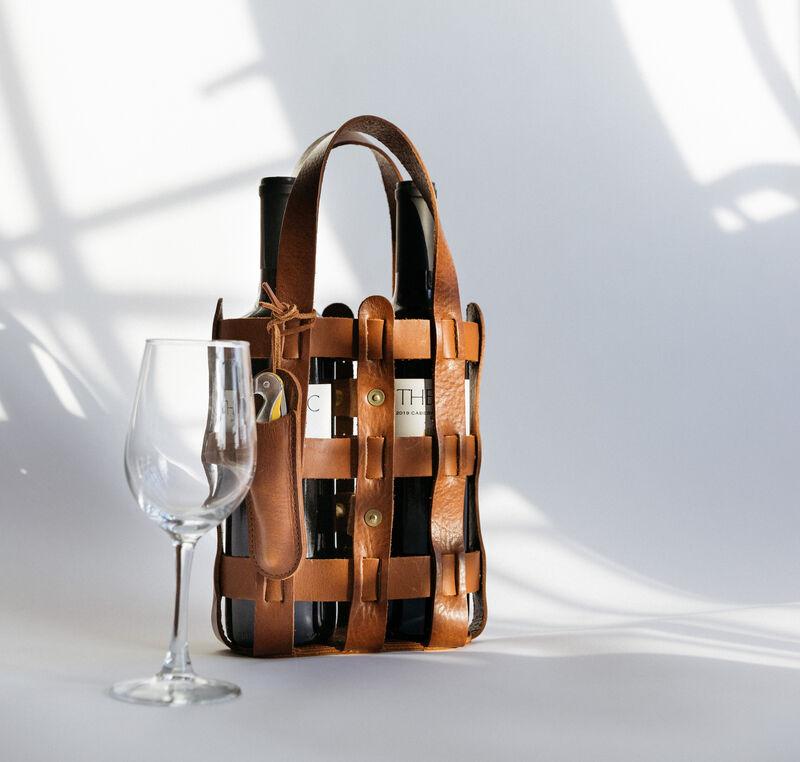 Woven Wine-Specific Totes