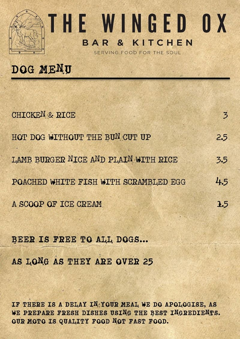 Boozy Canine-Friendly Menus