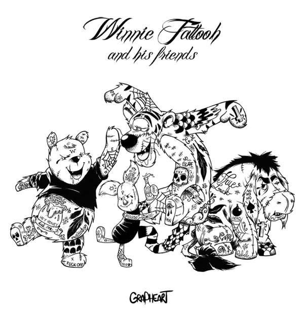 Body Art Bears : 'Winnie Tattooh'