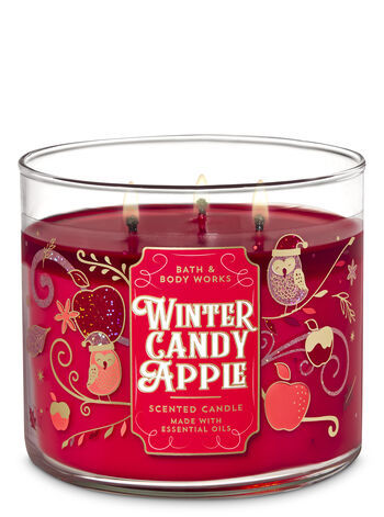 Candy Apple-Inspired Candles