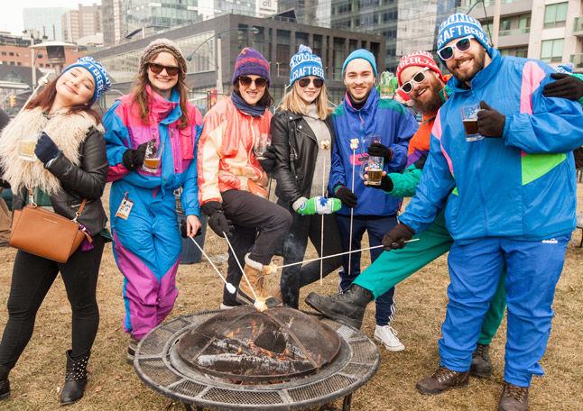 Retro Skier Beer Festivals