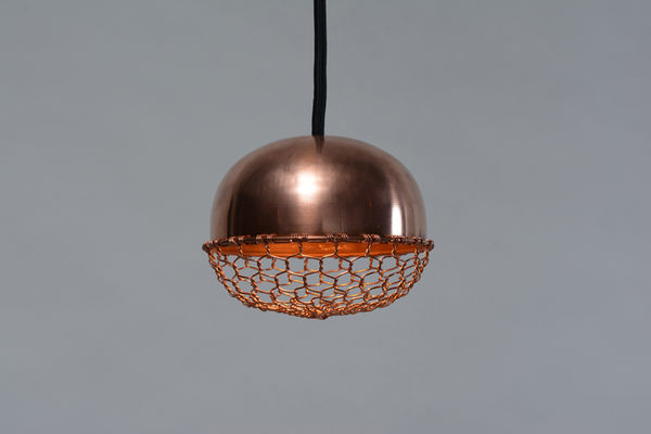 Mesh-Covered Lighting : Wire Mesh Light