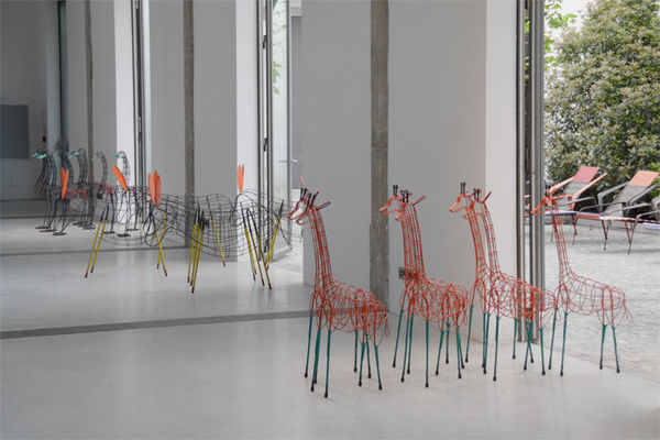 Wireframe Animal Sculptures
