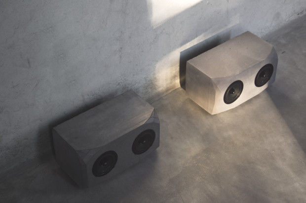 Brutalist Concrete Speakers