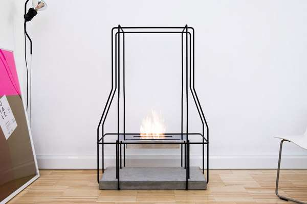 Wireframe Fireplaces