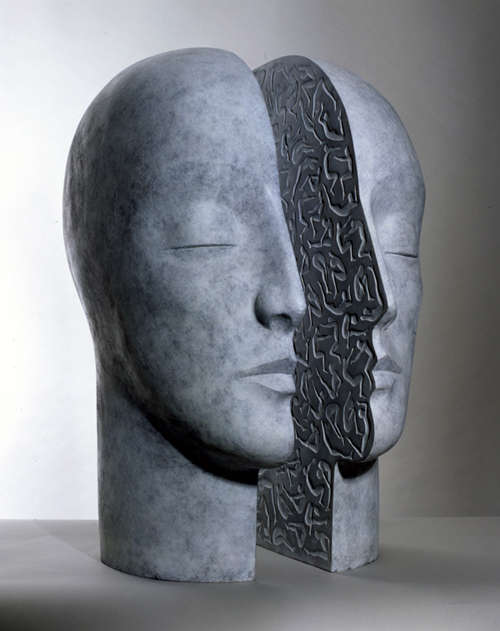 Split Head Sculptures
