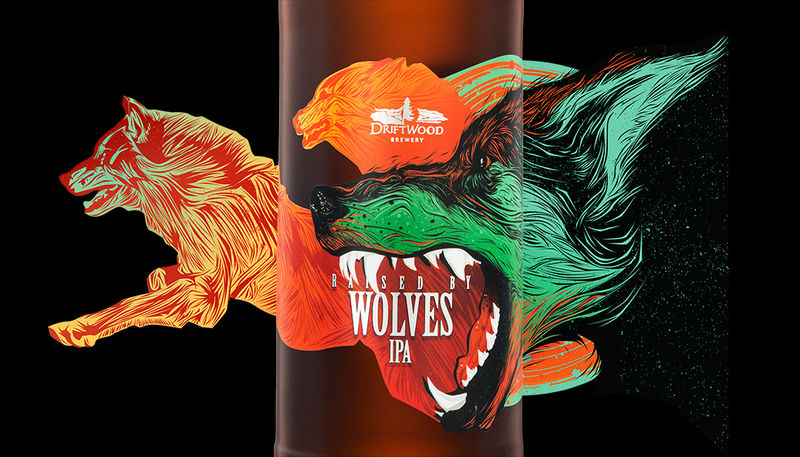 Wolf-Adorned Beer Labels