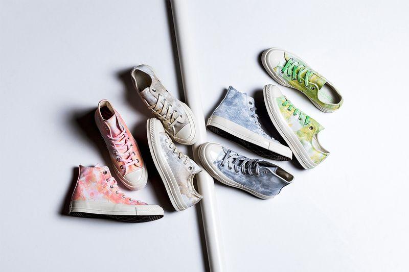 Light Washed Tie-Dye Sneakers